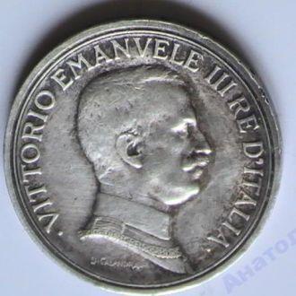 2 Лиры 1916 г Италия Серебро 2 Ліри 1916 р Італія