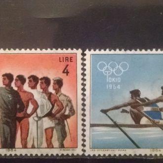 марки Сан Марино спорт 1964 г. MNH