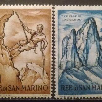 марки Сан Марино горы MNH