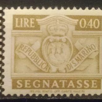 марки Сан Марино стандарты старые MNH