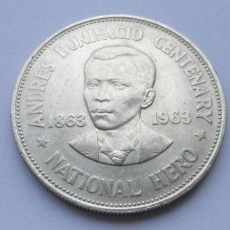 Филиппины 1 песо 1963 г