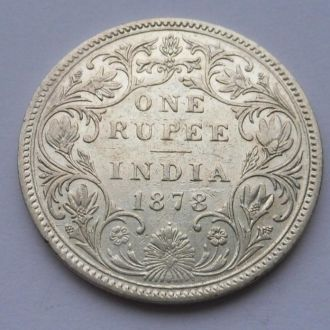 Британская Индия 1 рупия 1878 г