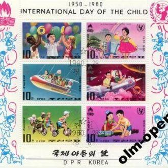 N. Korea / Сев. Корея - Всемирный день детей 1980