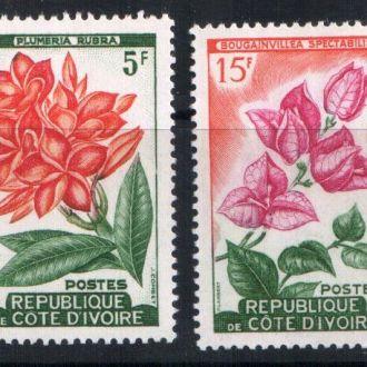 Кот-дИвуар  флора цветы 1961