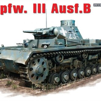 MiniArt - 35162 - Немецкий танк Pz.Kpfw.III Ausf.B - 1:35