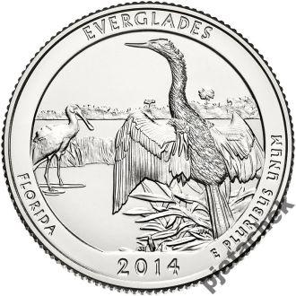 25 центов Флорида Эверглейдс  2014 г.