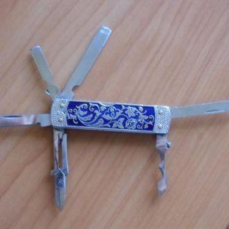Нож Раскладной бритва Эмали интересный ОТЛИЧНЫЙ !!