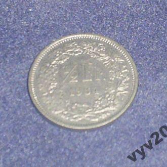Швейцария-1984 г.-1/2 франка