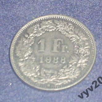 Швейцария-1988 г.-1 франк