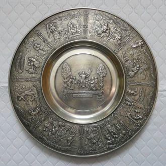 Тарілка тарелка настенная олово 31,2см