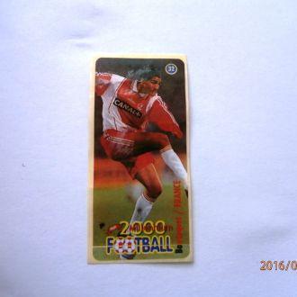 вкладыш наклейка Football 2000 Millenium № 32