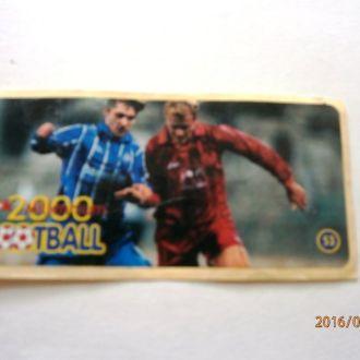 вкладыш наклейка Football 2000 Millenium № 53