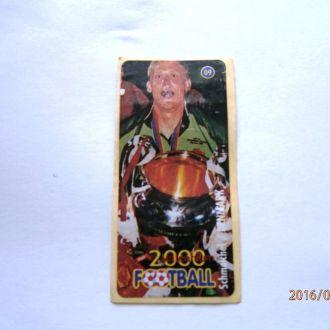 вкладыш наклейка Football 2000 Millenium № 09