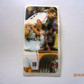 вкладыш наклейка AC Milan № 22