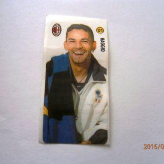 вкладыш наклейка AC Milan № 01