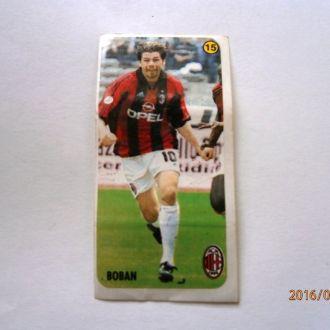 вкладыш наклейка AC Milan № 15