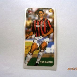 вкладыш наклейка AC Milan № 19