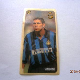 вкладыш наклейка Inter Milan № 06