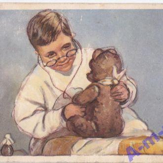 Открытка  дети  коминариц 1955