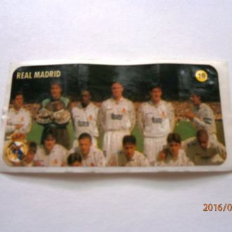 вкладыш наклейка REAL MADRID № 19