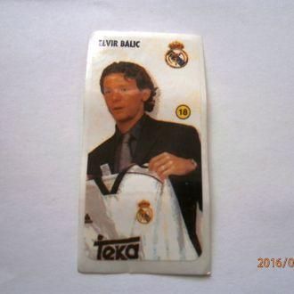 вкладыш наклейка REAL MADRID № 18