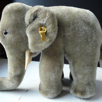 Слоник слон Steiff Стейфф солома 15см