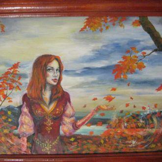 Картина Осень масло 32х25
