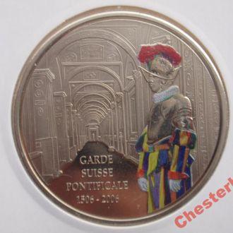 ДР Конго 5 франков 2006 Garde Suisse Pontificale состояние очень редкая