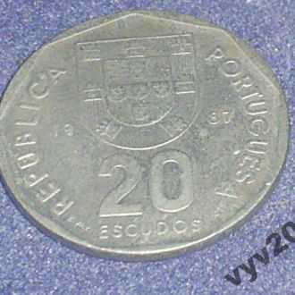Португалия-1987 г.-20 эскудо