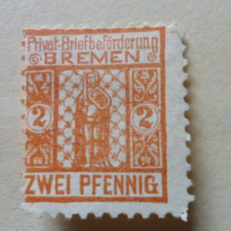 Германия частная почта Бремен Мих.25 Евро