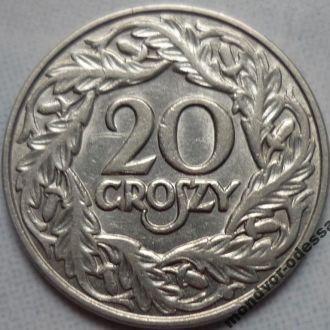 Польша 20 грошей 1923 состояние