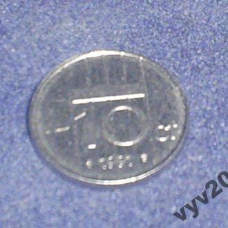 Голландия-1991 г.-10 центов