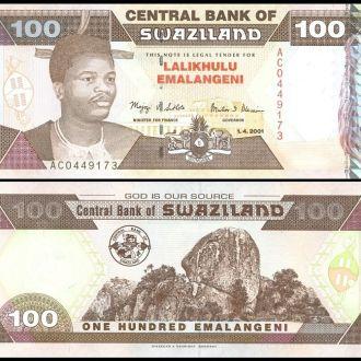 Swaziland/ Свазиленд - 100 Emalangeni 2001 UNC OLM