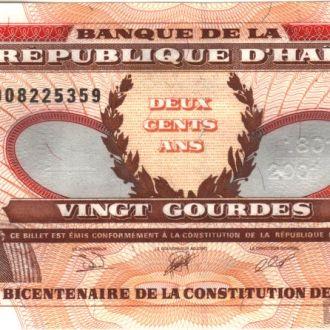 Гаити 20 гурдов 2001 в UNC из пачки