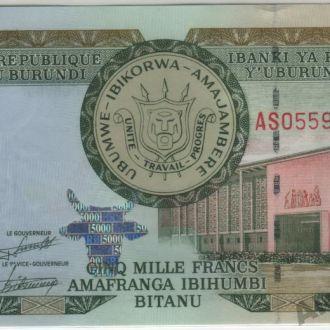 Бурунди 5000 франков 01.12.2008 в UNC