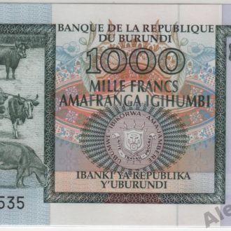 Бурунди 1000 франков 01.05.2009 в UNC