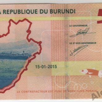 Бурунди 500 франков 15.01.2015 в UNC