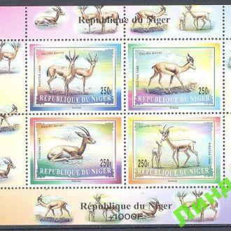 Нигер 1985 фауна Африки ВВФ WWF малый лист ** о