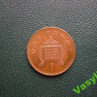 Великобритания 1 пенни 2001 г. Сохран!!!