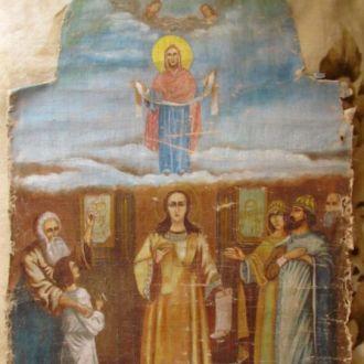Образ Покров Пресвятой Богородицы холст98*68 икона