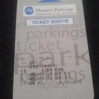Парковочный билет с Монако .!!!