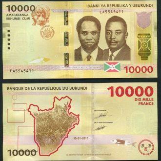 Burundi/ Бурунди - 10000 Francs 2015 UNC OLM-OPeN