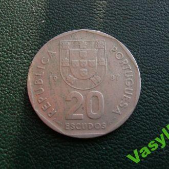 Португалия  20 эскудо 1987 г. Сохран!