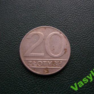Польша  20 злотых 1990 г. Сохран!