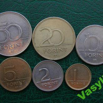 Венгрия Подборка 6 монет форинтов! Сохран!