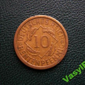 ВЕЙМАР  10 пфеннигов 1924 А  Сохран!!!