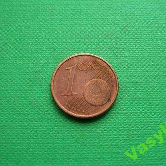 Италия 1 евро цент 2004 г. Сохран!