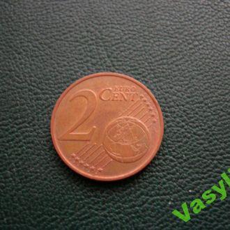Австрия 2 евро цента 2008 г. Сохран!