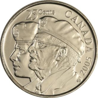 Shantaaal, Канада 25 центов Год ветеранов 2005 UNC