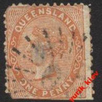 """Австралия""""Queensland"""" 1879г.№57 гаш"""